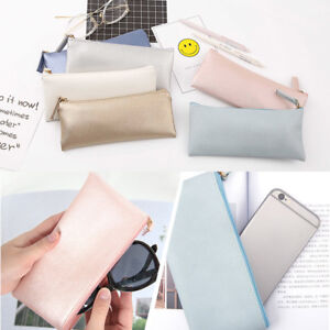 Pencil-Case-PU-Leather-Zipped-Pen-Bag-Cosmetic-Storage-Boy-Girl-Stationery-Pouch
