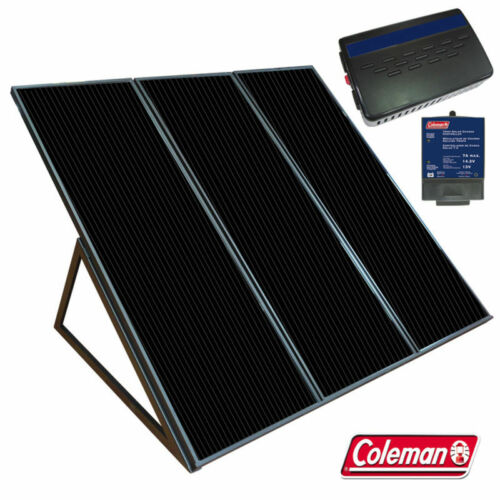 COLEMAN SUNFORCE 55 W SOLAR POWER PANEL CHARGING KIT WITH 300 WATT INVERTER
