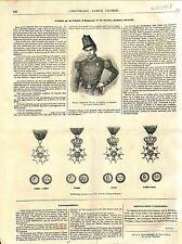 Hippolyte Ponceot Uniforme Garde Mobile / Médaille Légion d'Honneur GRAVURE 1848