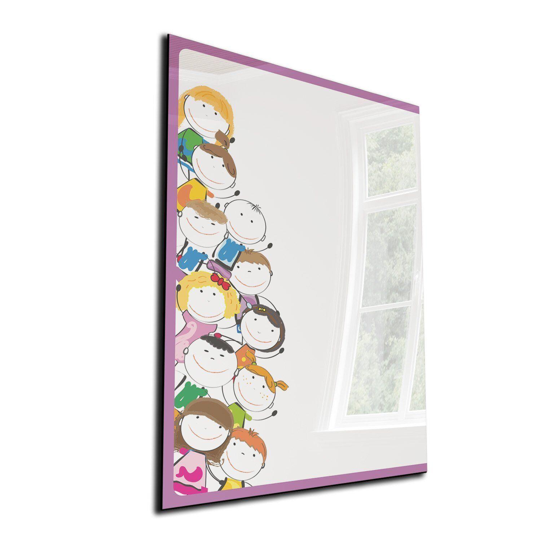 DEKOGLAS Magnettafel  Männchen  50x70 Glas Magnet-Wand Weißboard Memoboard