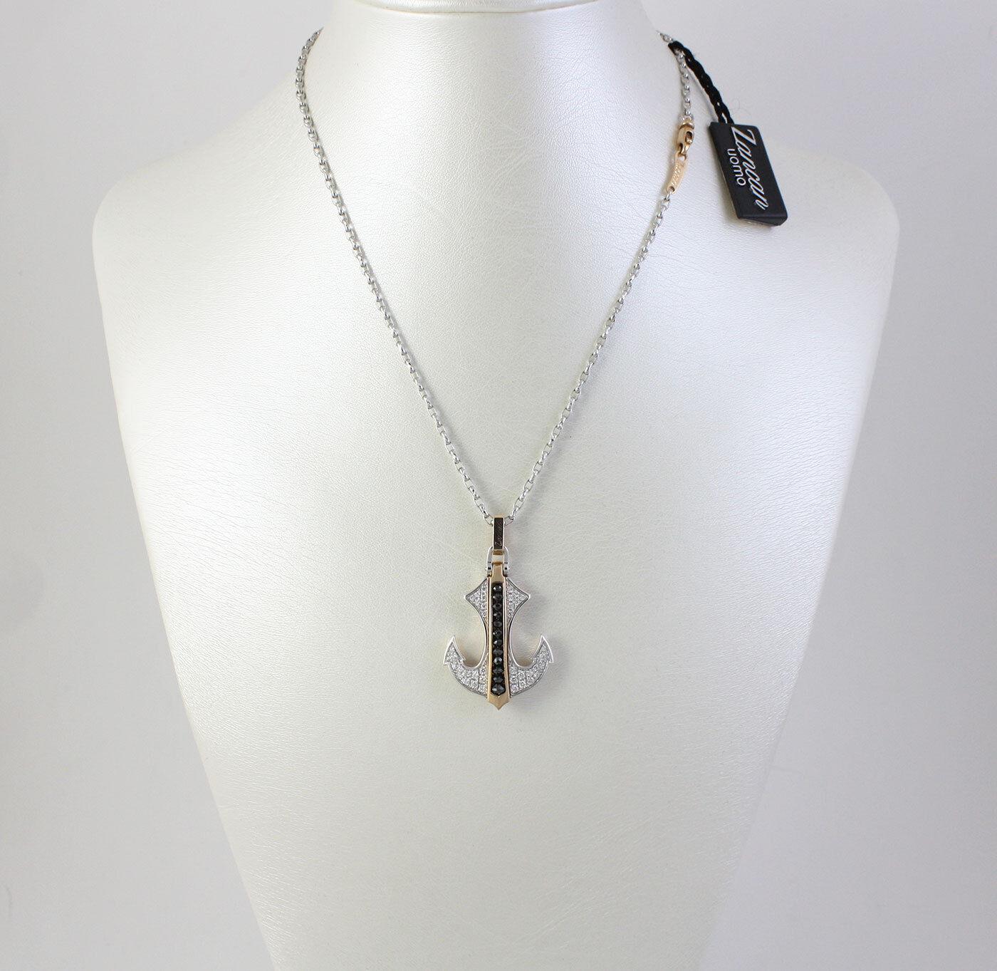 Collana Zancan a forma di àncora àncora àncora in oro 18 kt e Diamanti ref. EC260RB 456e3d