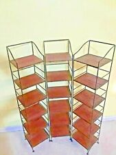 3 Wrought Iron Style Stands With Wood Shelves