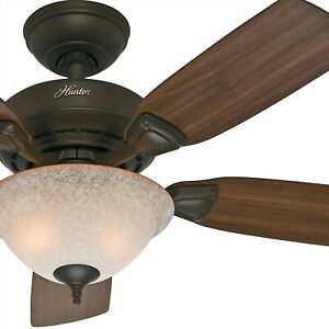 Hunter-44-034-New-Bronze-Ceiling-Fan-with-Florence-Glass-Light-Kit