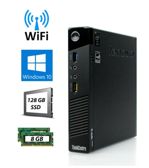 Lenovo ThinkCentre M73 Tiny  i5-4570T 2.90GHz 8GB 128GB SSD Win 10 Pro