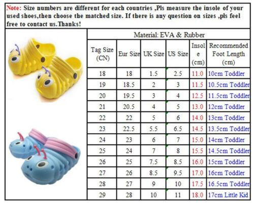 Toddler Kids Baby Girls Boys Sandals Slippers Soft Beach Caterpillar Shoes UK