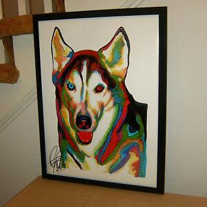 Siberian Husky Alaska Sled Dog Pet Poster Print Wall Art 18x24