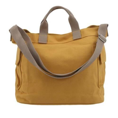 Large Canvas Tote Bag Casual Cross-body Handbags with Detachable Shoulder Strap