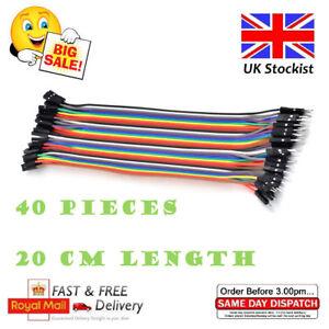 40pcs-Dupont-Cables-MALE-TO-FEMALE-Jumper-GPIO-Breadboard-Wire-Ribbon-Pi-Arduino
