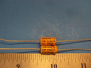 Sprague Atom 8uf 450V electrolytic Capacitor tube amp
