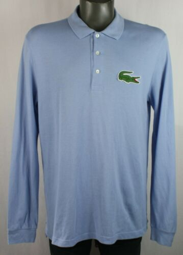Lacoste Big Croc Baby Blue Long Sleeve Casual Polo