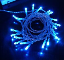 40 LED Fairy Christmas Haloween Wedding Party Lights 4m in BLUE Battery Operated