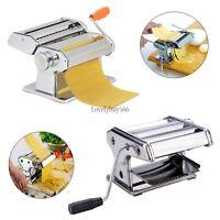 7 Pasta Maker Dough Roller Noodle Making Machine & Removable Handle For Kitchen