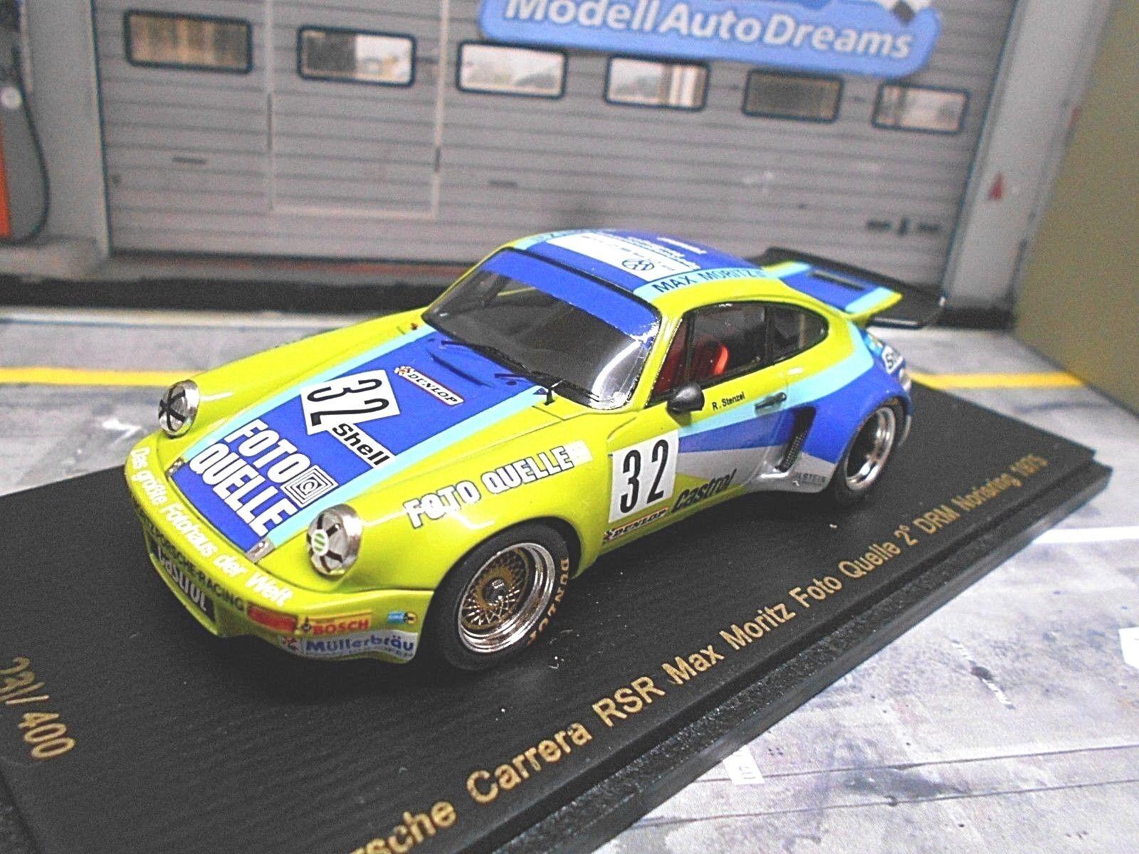 PORSCHE 911 RSR Max Moritz DRM Norisring 1975 Stenzel Photo source 32 Spark 1 43