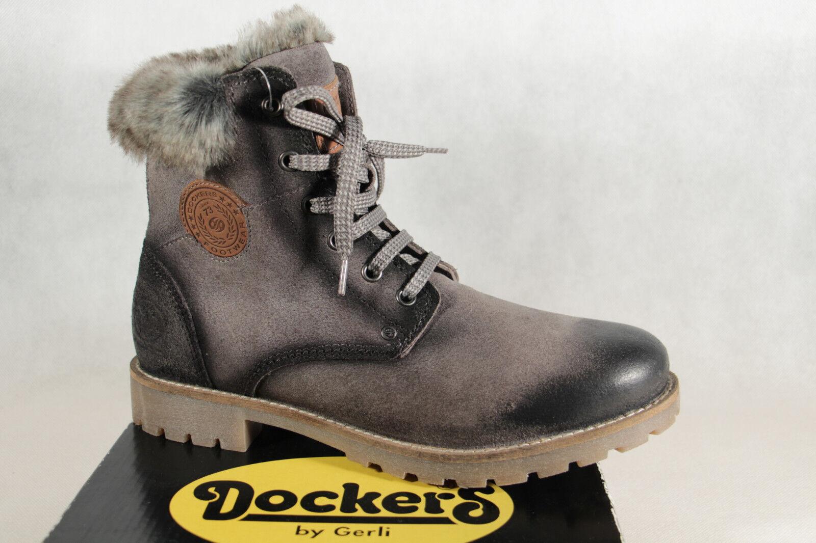 Dockers Damen Stiefel Boots Winterstiefel grau Echtleder NEU