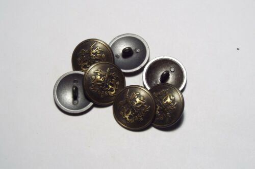 8pc 20mm Crested Military Bronze Gold Metal Blazer Coat Cardigan Kid Button 2815