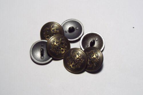 8pc 20mm crête militaire bronze or métal blazer manteau cardigan kid bouton 2815