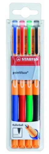 STABILO POINT VISCO POINTVISCO FINELINER 4er ETUI NEU