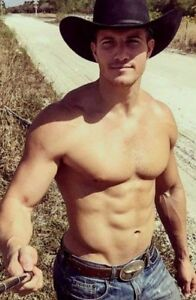 e6150d56aa417 Shirtless Male Muscular Bare Chest Sexy Cowboy Hot Beefcake Hunk ...