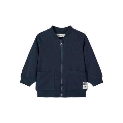 Name It Baby Unisex Sweatjacke Strickjacke Sweatshirt Zip Junge Mädchen blau