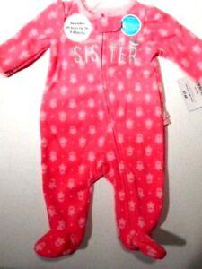 9adf377f87 Image is loading Pajamas-Little-Sister-Footsie-sleepwear-Baby-girls-Pjs-