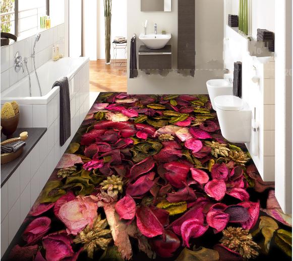3D Dried Petals Leaves 8 Floor WallPaper Murals Wall Print Decal AJ WALLPAPER US