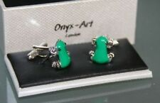 Novelty Cufflinks - Green Frog Design - *Boxed*