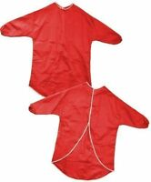 CHILDRENS RED LONG SLEEVE ART & CRAFT APRONS SMOCKS FOR PAINTING COOKING SCHOOL