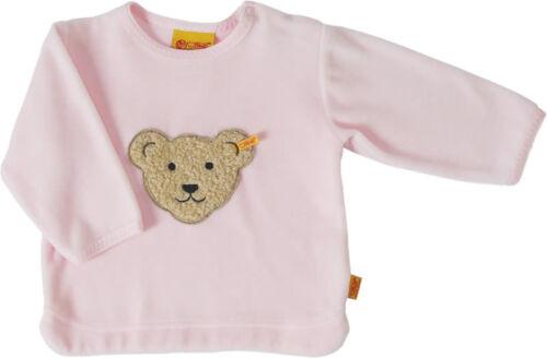 STEIFF® Nicky Sweatshirt Pullover Shirt Rosa Teddy Gr 68-86 0002881 Basic NEU