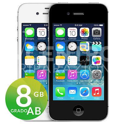 APPLE IPHONE 4S 8GB BIANCO O NERO iOS ACCESSORI GARANZIA SPEDIZIONE GRATUITA