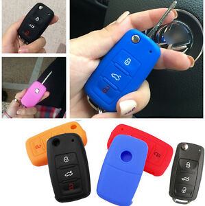 FIT-FOR-SKODA-FABIA-OCTAVIA-SUPERB-SEAT-LEON-IBIZA-SILICONE-KEY-COVER-CASE-FOB