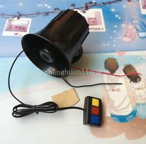 Mini 3 Sounds Style Motorcycles or Car Warning Siren Alarm Police Ambulance