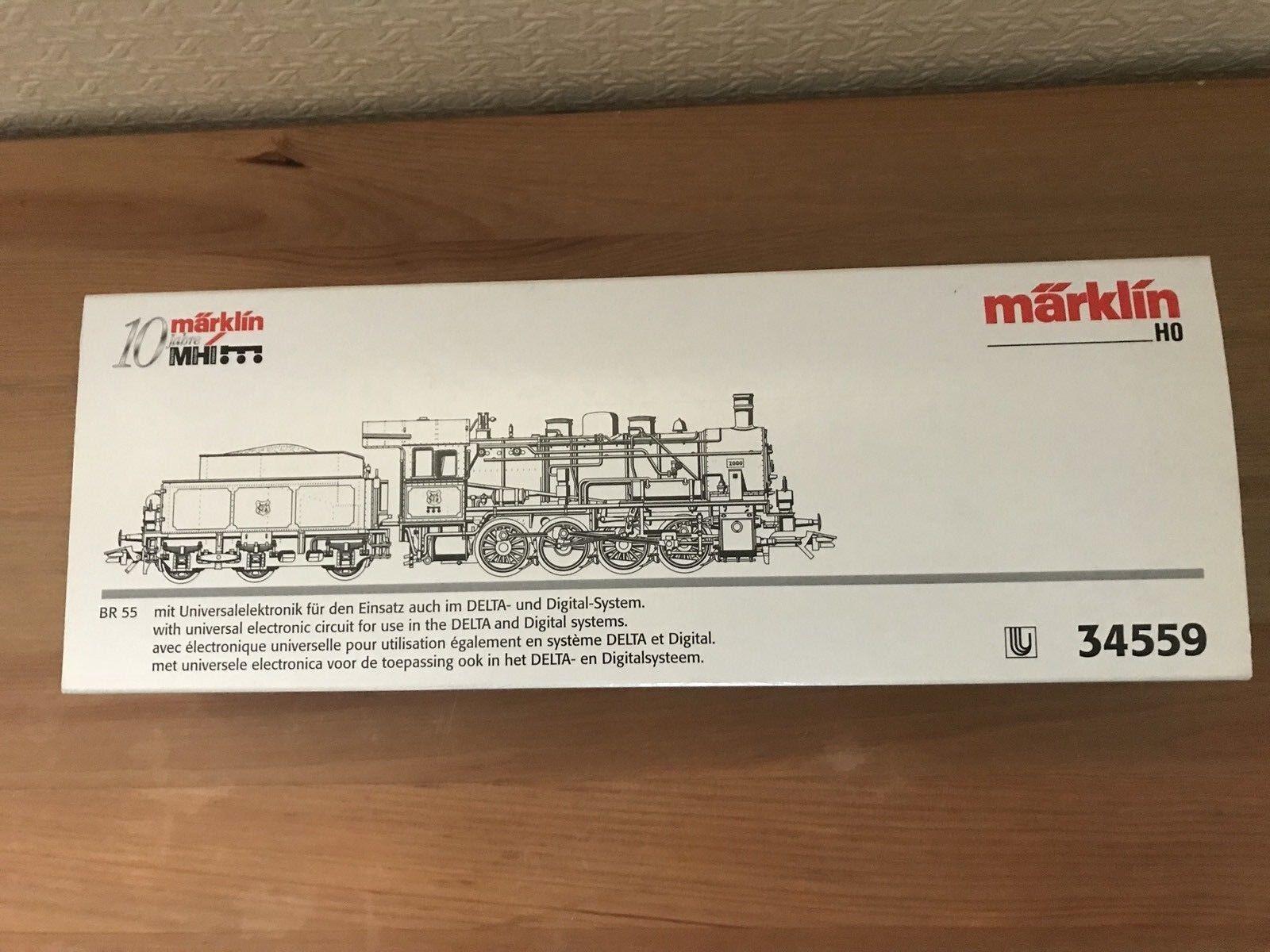 Märklin H0 34559 Dampflok Baureihe 55, 10 Jahre MHI, Delta Digital, OVP