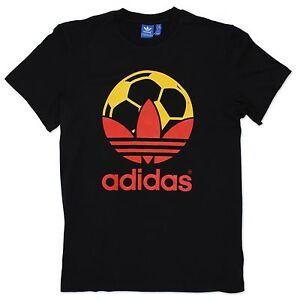 Adidas-Originals-Adidas-Trebol-Futbol-Espana-Camiseta-Negro-Rojo-Amarillo-S