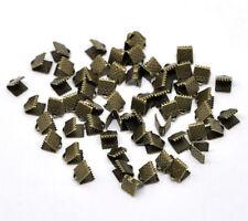 50 Bijoux Attaches Embouts Griffe Ruban Couleur bronze 6x8mm
