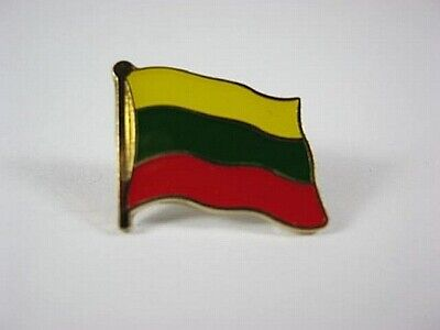 New With Pressure Lock 0 5/8in Humorous Lithuania Flags Pin Badge