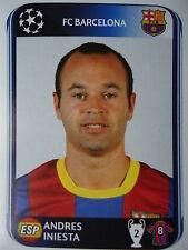 PANINI 220 Andres Iniesta FC Barcelona UEFA CL 2010/11
