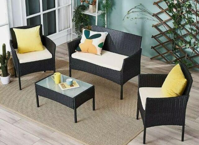 Ebs Garden Pool Furniture Rattan Wicker, Outdoor Wicker Patio Furniture Sets