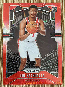 2019-20-Panini-Prizm-Rui-Hachimura-Rookie-RC-Ruby-Red-Wave-255-Wizards
