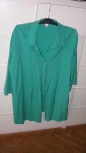 Bluse-gruen-Gr-52-2x-getragen-wie-neu-e