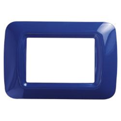 Gewiss Top Système Plaque 3 Modules GW 22573 Bleu Jazz Original Meubles Maison