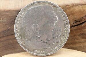 2-Reichsmark-1937-A-Paul-von-Hindenburg-1847-1934-Silbermuenze-A-Berlin-010