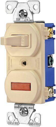 Eaton 277V 15-Amp 120-volt Combination Single Pole Toggle Switch and Pilot Light