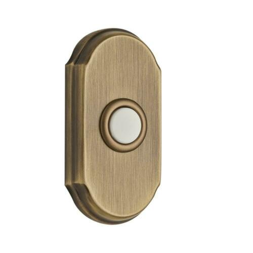 Matte Brass and Black Baldwin 9BR7017-006 Wired Arch Bell Button