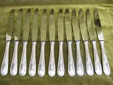 12 couteaux de table métal argenté rocaille Dubarry Frionnet (dinner knives) ER
