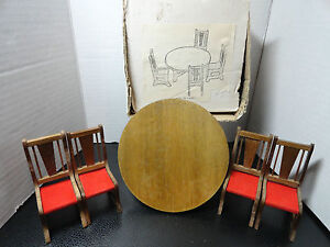 Image Is Loading Doll House Furniture Round 5 034 Table Amp