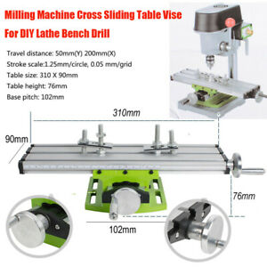 Compound Table Clamping Drill Press Vise Fixture For Bench Drill Milling Machine