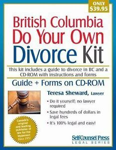 Do your own divorce kit british columbia by alison sawyer and teresa do your own divorce kit british columbia by alison sawyer and teresa sheward 2010 kit cd rom windows new edition solutioingenieria Choice Image