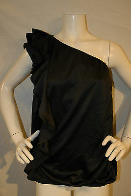 NWT Lane Bryant Top Black Dressy Career Plus Size Blouse One Shoulder 22