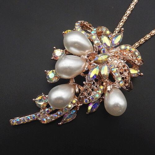 Betsey Johnson Perle Blanche Cristal noix de coco Arbre Pendentif Pull Collier