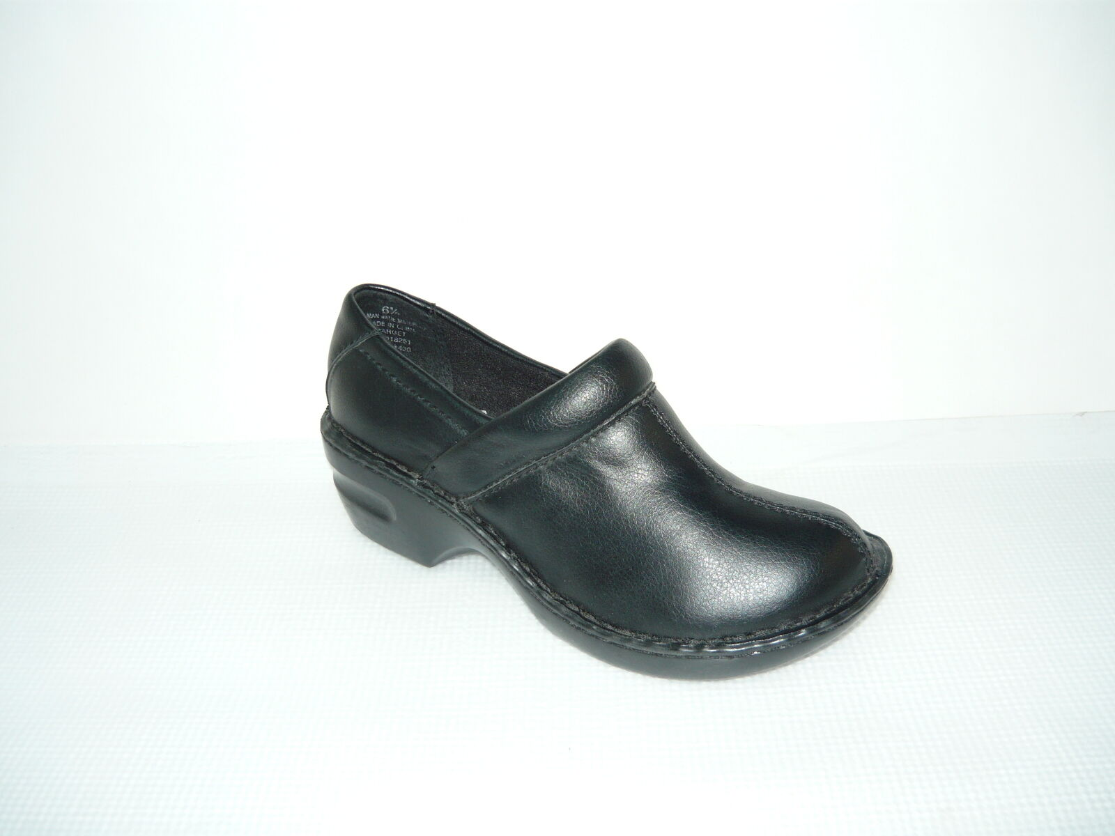 Sonoma Sndaria Black Leather Clogs shoes Size 6.5 Med